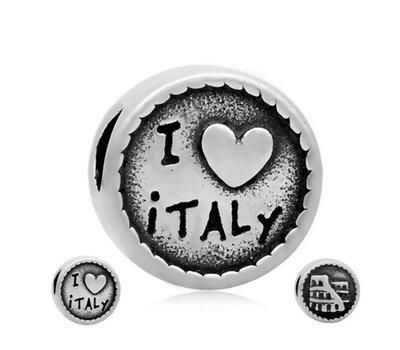 Bedels en Kralen Bedel Italie zilverkleurig voor bedelarmbanden