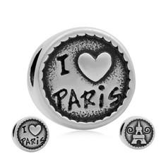 Bedels en Kralen Bedel Parijs zilverkleurig