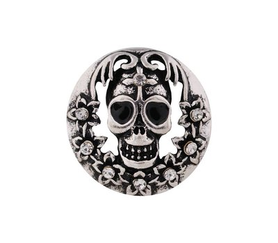 Clicks en Chunks | Click doodshoofd zilverkleurig voor clicks sieraden