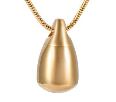 Ashangers Ashanger druppel goudkleurig inclusief ketting