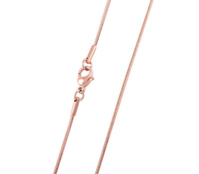 Ketting zonder hanger Rose goudkleurige snake ketting  zonder hanger van rvs