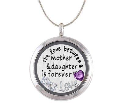 Complete Memory locket Moeder en Dochter Memory Locket Ketting