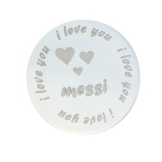 Floating locket  discs Memory locket disk i love you naam large