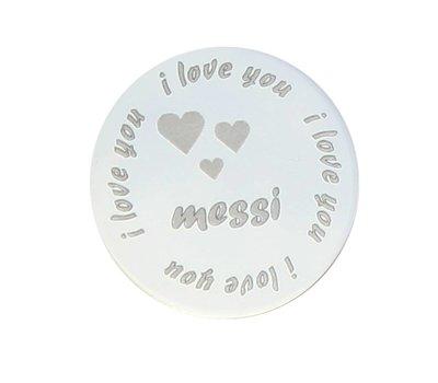 Floating locket  discs Memory locket disk i love you naam large