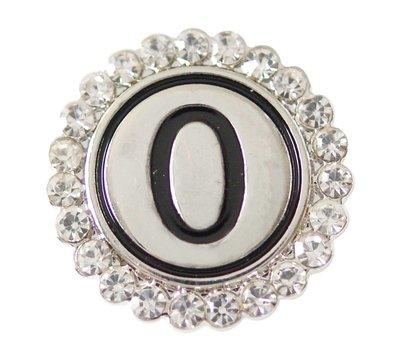 Clicks en Chunks | Click cijfer 0 zilverkleurig voor clicks sieraden