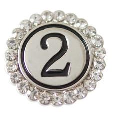 Clicks / Chunks Click cijfer 2 zilver