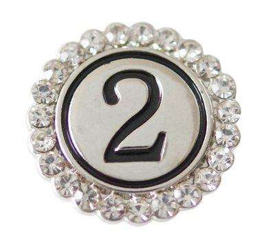 Clicks en Chunks | Click cijfer 2 zilverkleurig voor clicks sieraden