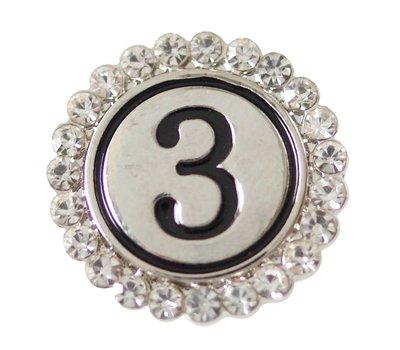 Clicks / Chunks Click cijfer 3 zilver