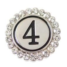 Clicks / Chunks Click cijfer 4 zilver