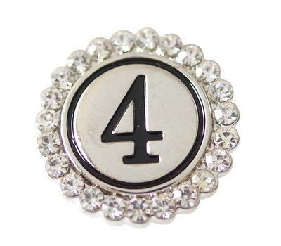 Clicks en Chunks | Click cijfer 4 zilverkleurig voor clicks sieraden