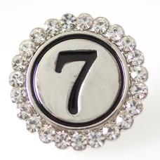 Clicks en Chunks | Click cijfer 7 zilverkleurig