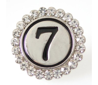 Clicks en Chunks | Click cijfer 7 zilverkleurig voor clicks sieraden