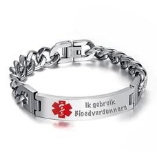 Medische Alert Sieraden Tekst graveren op Medische SOS Armband van Roestvrij staal