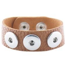 Clicks Armbanden |  Clicks armband leer bruin