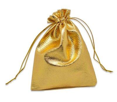 cadeauzakje goudkleurig