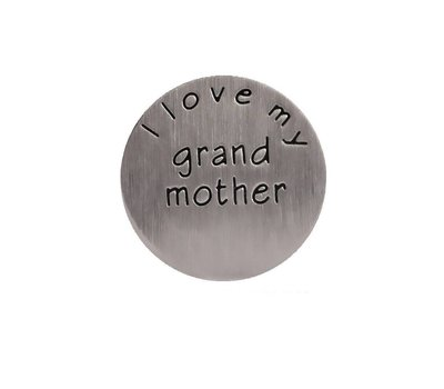 Floating locket  discs Memory locket disk i love my grandmother zilverkleurig large