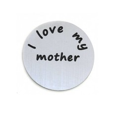 Floating locket  discs Memory locket disk i love my mother zilverkleurig large
