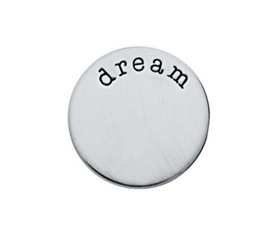 Floating locket  discs Memory locket disk dream zilverkleurig large