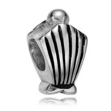 Bedels en Kralen Bedel schelp zilver