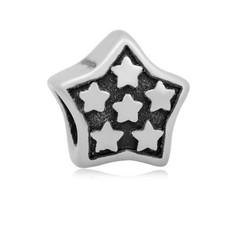Bedels en Kralen Bedel sterren zilverkleurig