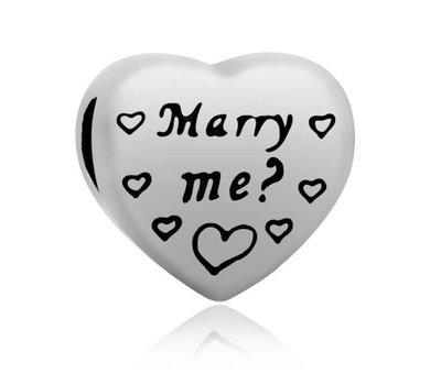 Bedels en Kralen Bedel marry me? voor bedelarmbanden