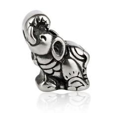 Bedels en Kralen Bedel olifant zilverkleurig