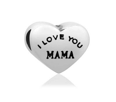 Bedels en Kralen Bedel I love you mama voor bedelarmbanden