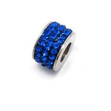 Bedels en Kralen Bedel glinsterend donker blauw