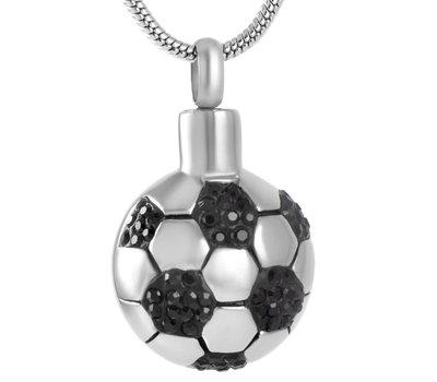 Ashangers Ashanger voetbal zilverkleurig inclusief ketting