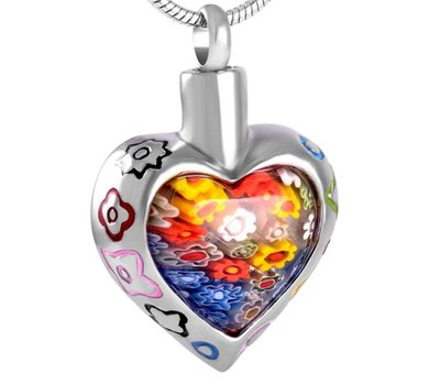 Ashangers Ashanger Murano hart bloemen inclusief ketting