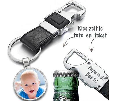 Sleutelhanger met foto Bieropener sleutelhanger