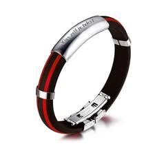 Armband met Naam Mannen armband graveren rood