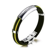 Armband met Naam Mannen armband graveren geel