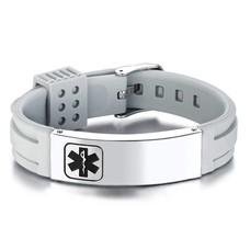 Medische alert armband Medische armband grijs