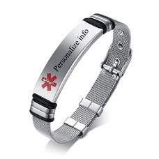 Medische alert armband Medische Mesh armband