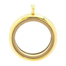 Floating locket Goudkleurige memory locket rond XL