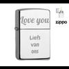 Aansteker Graveren Zippo graveren met  Tekst of Symbool
