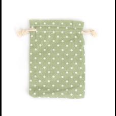 Luxe cadeauzakje groen met stippen