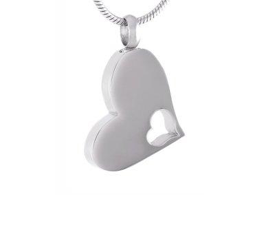 Ashangers Ashanger Heart in Heart - zilverkleurig