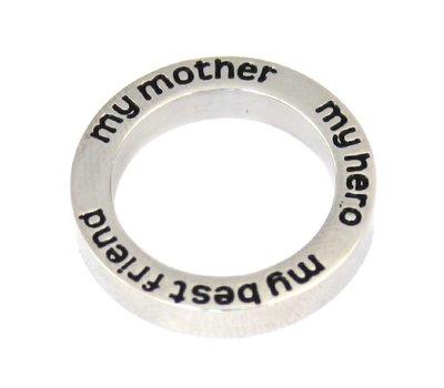 Floating locket  discs Memory locket open disk my mother zilverkleurig large