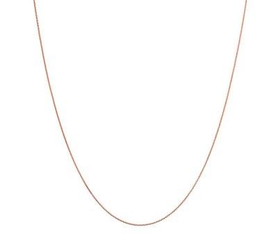 Sieraden met naam Rosé Goudkleurige Ketting voor Ketting met Naam