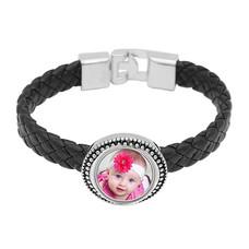 Armband met Foto Armband met Foto Zwart Gevlochten