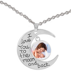 Clicks Sieraden Clicks hanger  I love you to the moon and back inclusief ketting