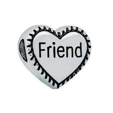 Bedels en Kralen Bedel friend zilverkleurig hart
