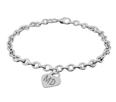 Armband met Naam Hartjes armband Initialen - Zilverkleurig