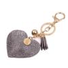 Sleutelhanger Graveren Sleutelhanger glitter hart - Goudkleurig met warm grijs