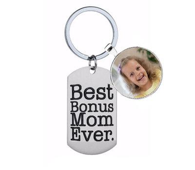 Sleutelhanger met foto Sleutelhanger Best Bonus Mom Ever