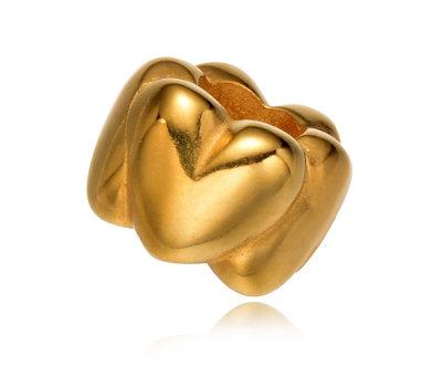 Bedels en Kralen Bedel Liefde Goudkleurig voor bedelarmbanden