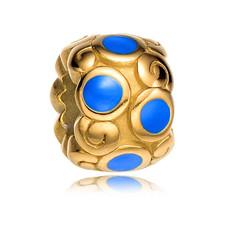 Bedels en Kralen Bedel Royal Goudkleurig/Blauw