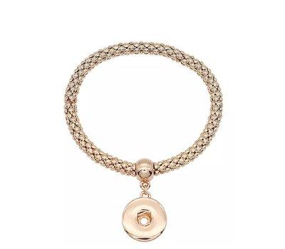 Clicks Armbanden    Clicks armband elastisch voor clicks en chunks - Goudkleurig
